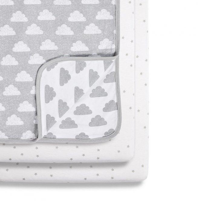 Pod Crib 3 Piece Bedding Set - Cloud Nine