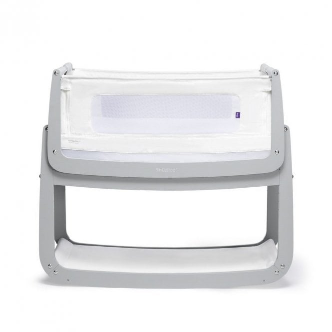 Pod4 Bedside Crib - Dove Grey