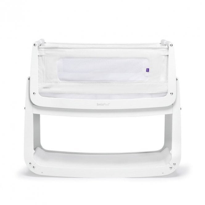 Pod4 Bedside Crib - White