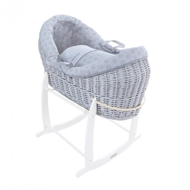 Speckles Crossover Noah Pod Moses Basket - White / Grey