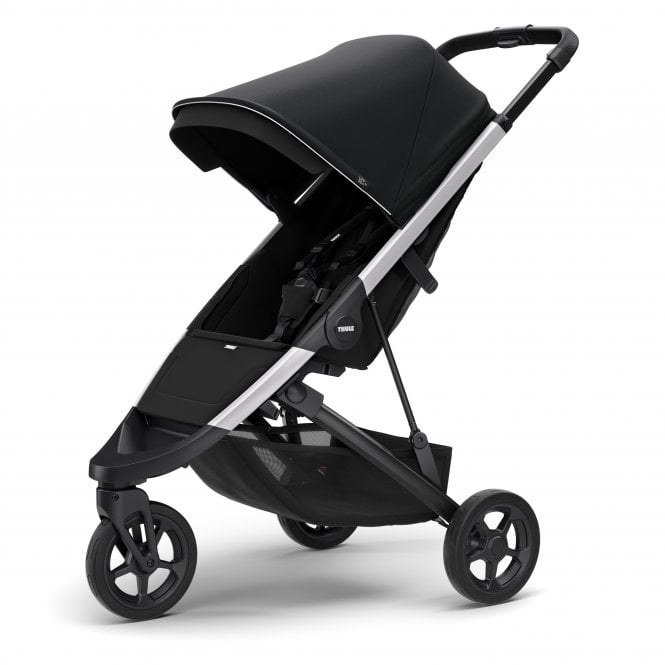 Spring Pushchair - Midnight Black On Aluminium