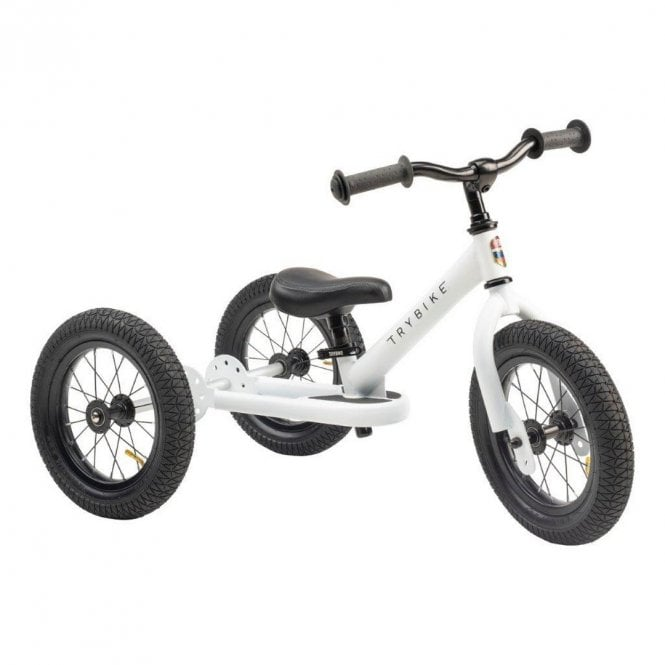 Steel 2 In 1 Balance Trike - White