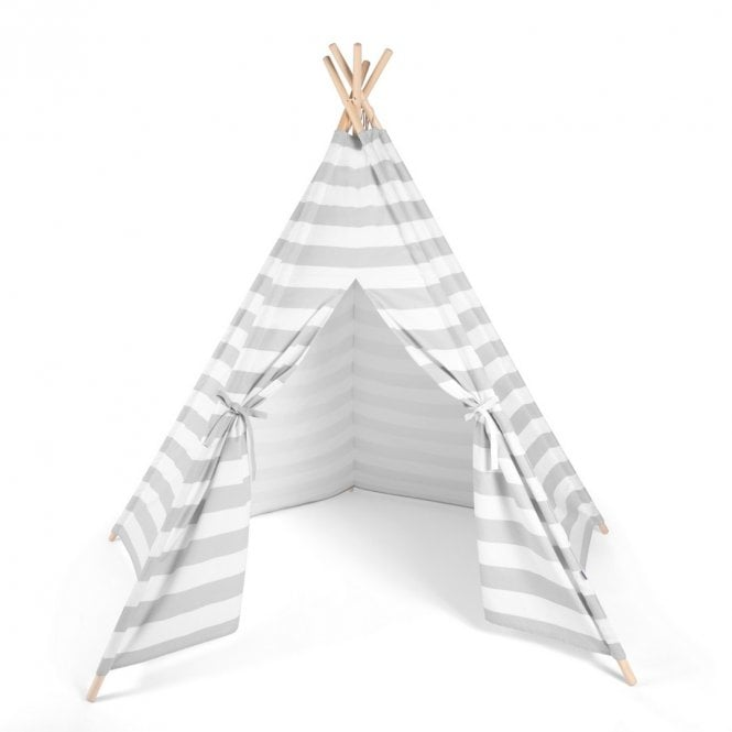 Teepee Kids Play Tent - Grey Stripe