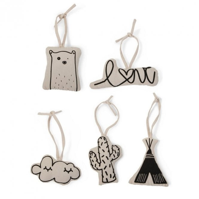 Tipi Play Gym Canvas Toys - Set Of 5