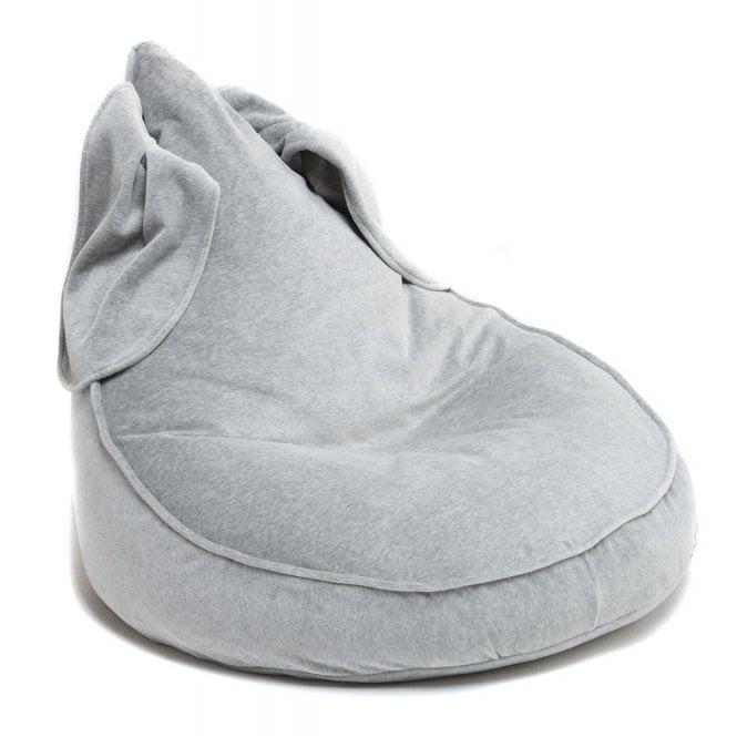 Velvet Bunny Beanbag - Grey