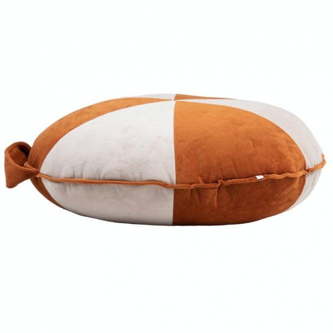 Velvet Cookie Beanbag - Large - Cinnamon / Beige