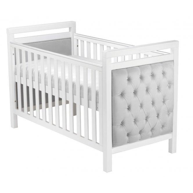Velvet Deluxe Cot Bed - White
