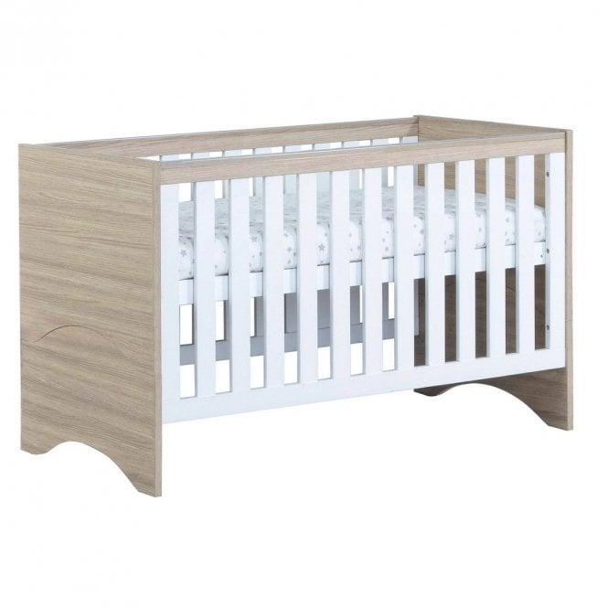 Veni Cot Bed - White / Oak