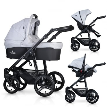Soft 3 in 1 Pushchair Black Chassis