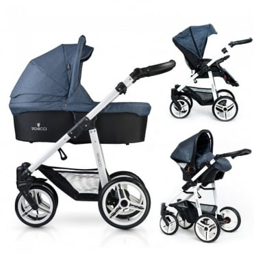 Soft 3 in 1 Pushchair White Chassis