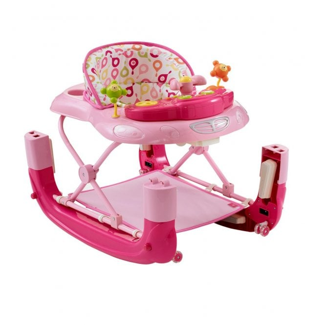 Walk N Rock Baby Walker Rocker - Pink