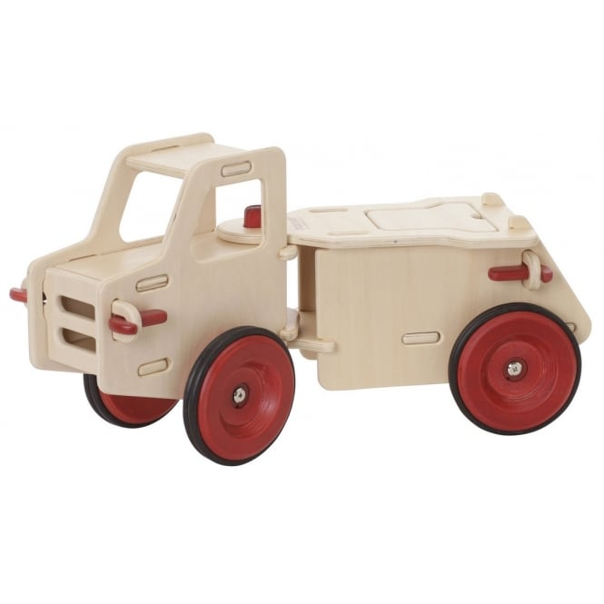Wooden Ride On Dump Truck - Natural