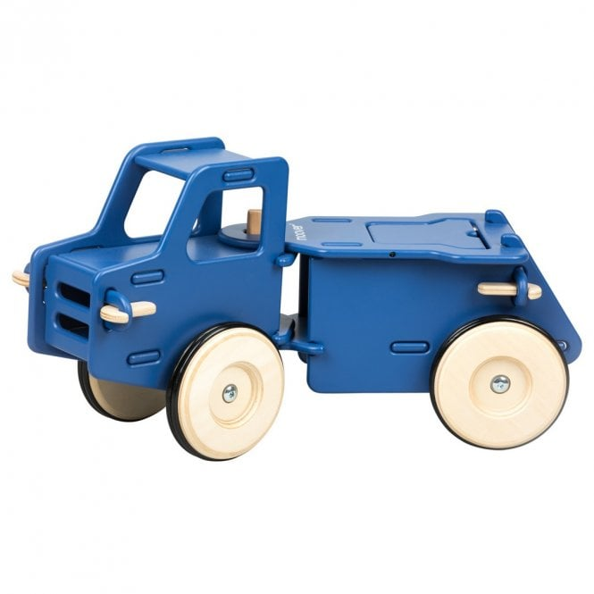 Wooden Ride On Dump Truck - Navy Blue