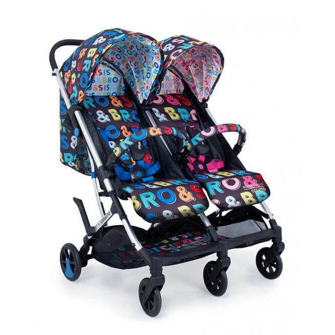 Woosh Double Pushchair - Sis & Bro
