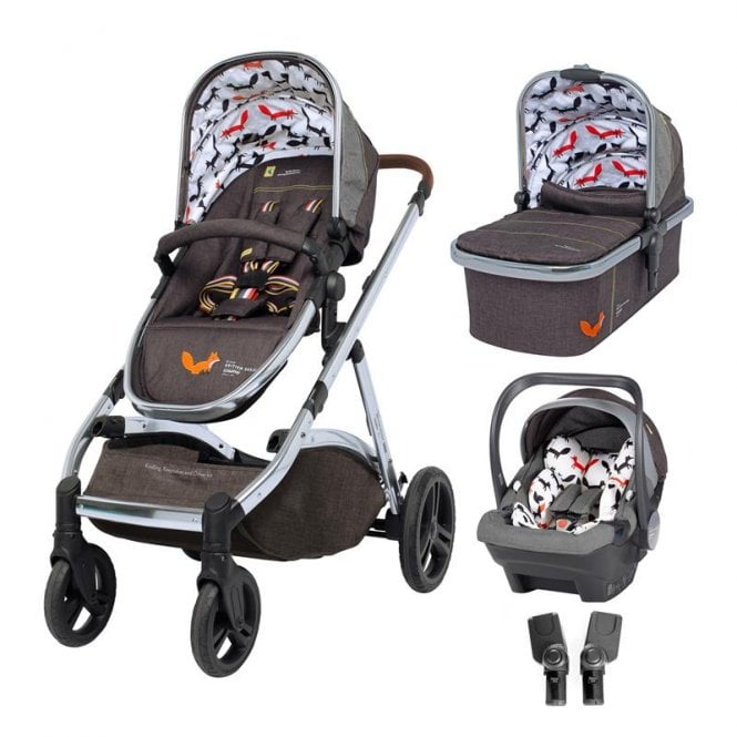 Wow XL Travel System Bundle - Charcoal Mister Fox