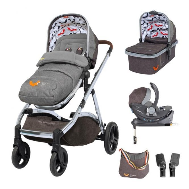 Wow XL Whole 9 Yards Dock ISOfix Bundle - Charcoal Mister Fox