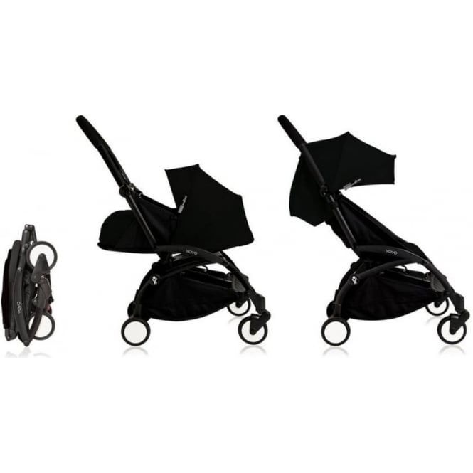 YOYO+ Pushchair Black Chassis with Newborn and 6+ Colour Pack