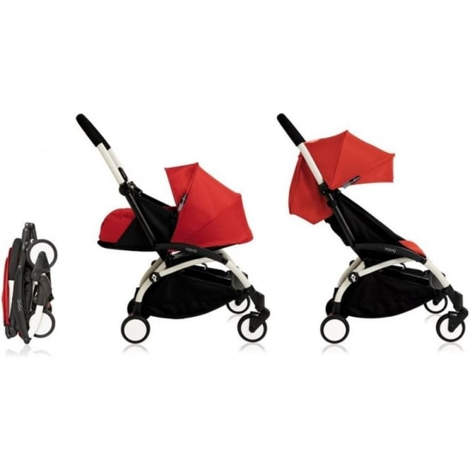 YOYO+ Pushchair White Chassis with Newborn and 6+ Colour Pack