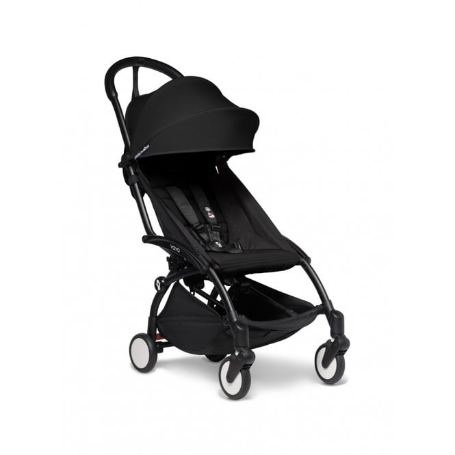 YOYO2 Pushchair With 6+ Colour Pack - Black / Black