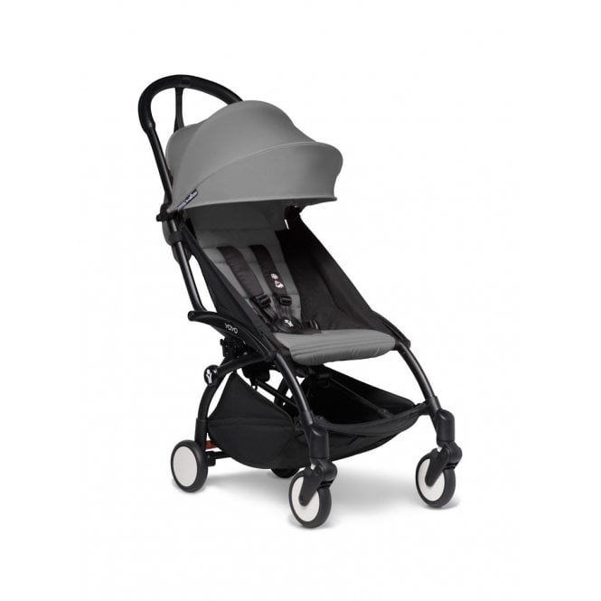 YOYO2 Pushchair With 6+ Colour Pack - Black / Grey
