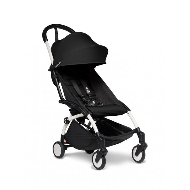 YOYO2 Pushchair With 6+ Colour Pack - White / Black