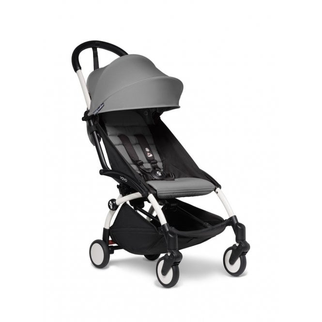 YOYO2 Pushchair With 6+ Colour Pack - White / Grey